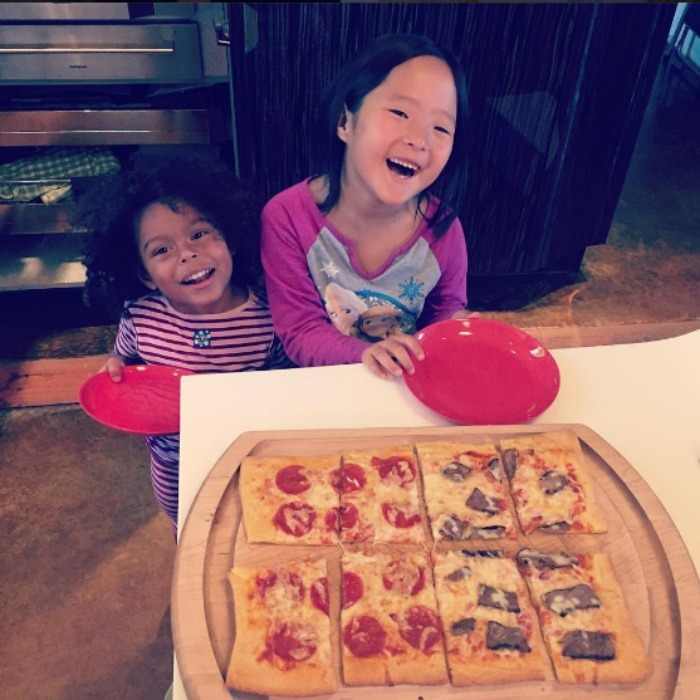 "Josh had a sweet day in the kitchen with Naleigh and  Adalaide. Captioning the moment, ""Just made our first homemade pizza together #daddydaughter day @katherineheigl is missing this deliciousness.""