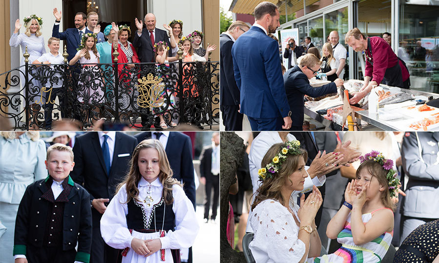 On Thursday, the entire Norwegian royal family came out to support King Harald as he celebrated 25 years on the throne.