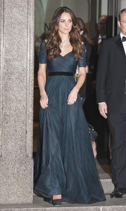 Stunning in a dark blue Jenny Packham gown at the Portrait Gala earlier in 2014.