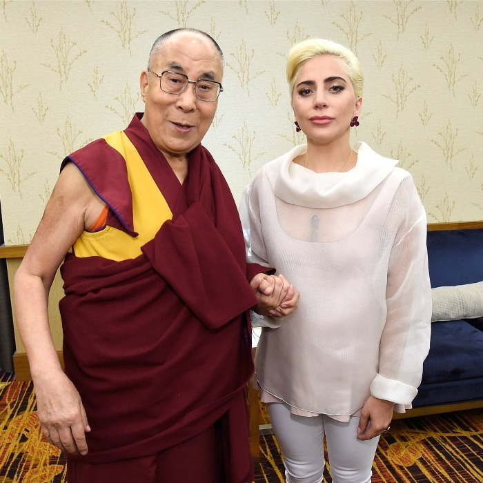 June 26: Kindness all around! Lady Gaga and the Dalai Lama teamed up to speak to U.S. mayors about kindness in  Indianapolis, Indiana.