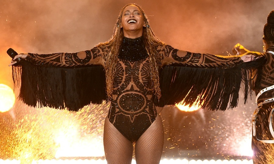 June 26: Beyoncé brought down the house with a performance of <i>Freedom</i> while wearing a custom Julien Macdonald Swarovski crystal encrusted bodysuit during the 2016 BET Awards in L.A.