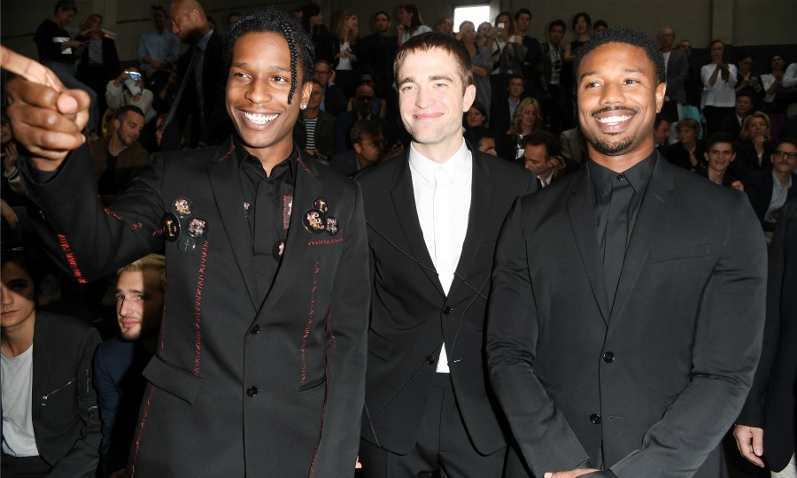 June 25: A$AP Rocky, Robert Pattinson and Michael B. Jordan were all smiles (and good looks) during the Dior Homme Menswear Spring/Summer 2017 show in Paris. 