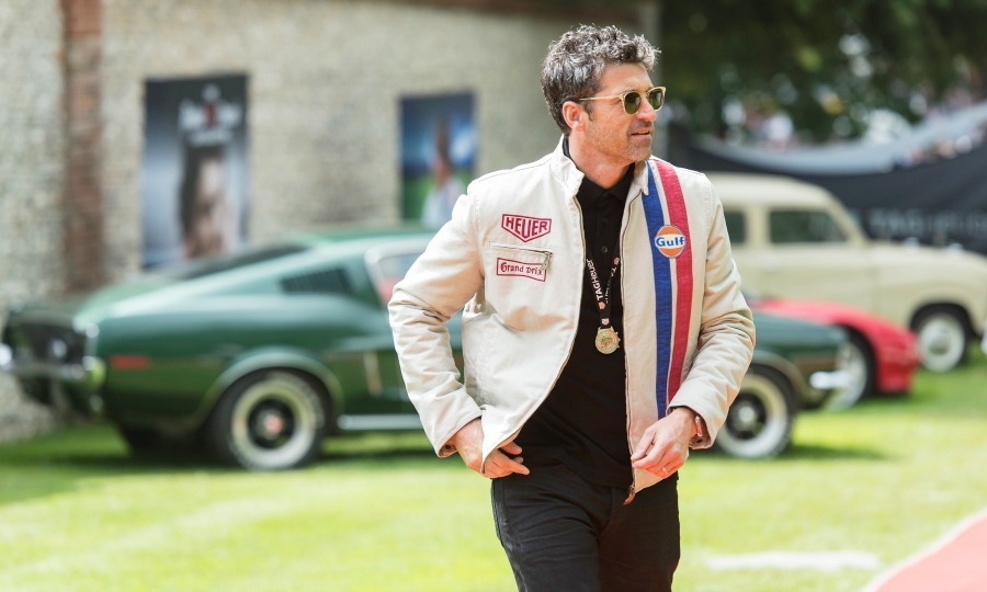 June 25: Patrick Dempsey picked up some speed during the TAG Heuer Drivers Club at the Goodwood Festival of Speed in Chichester, England.