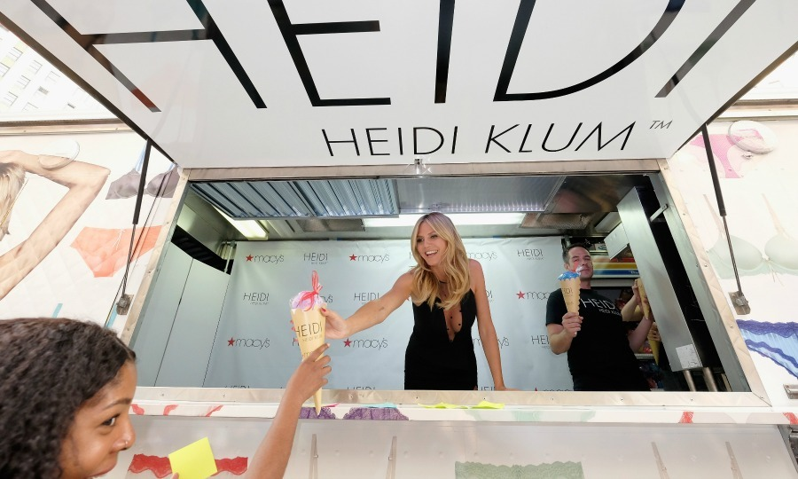June 23: Heidi Klum hosted a sweet shopping event, complete with an ice cream truck, in honor of her Heidi by Heidi Klum collection at Macy's Herald Square NYC.