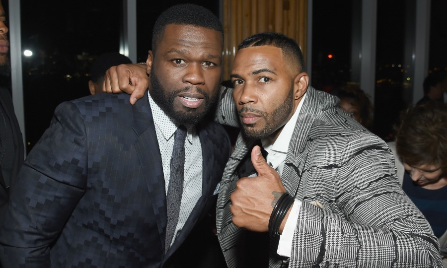 "June 22: <i>Power</i> stars Curtis ""50 Cent"" Jackson and Omari Hardwick looked sharp during the season three premiere after party at the Top of the Standard in NYC. 