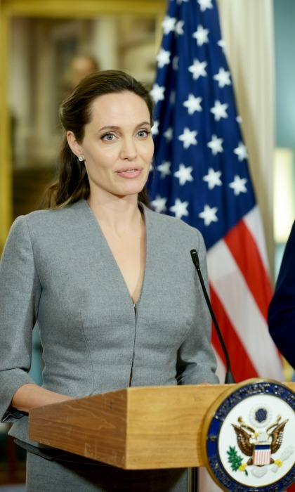 June 20: Angelia Jolie, who is the UN High Commissioner for Refugees Special Envoy, spoke at the State Department in Washington, D.C.