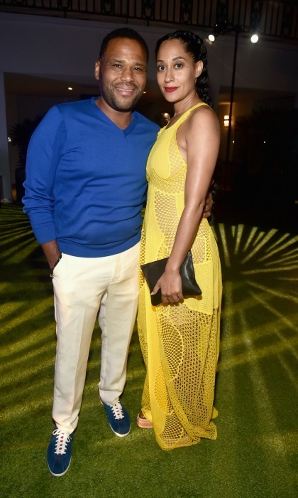 June 22:  Anthony Anderson and Tracee Ellis Ross listened to the sounds of  DJ Kiss at BET Chairman and CEO Debra Lee's PRE, kicking off the 16th Annual BET Awards at The London West Hollywood. 