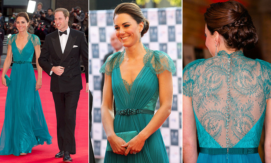 Image result for kate teal blue jenny packham gown