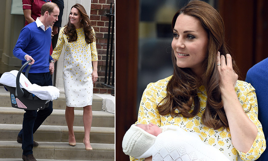The Stylish Royal Was A Ray Of Sunshine Leaving London S St Mary Hospital With Her