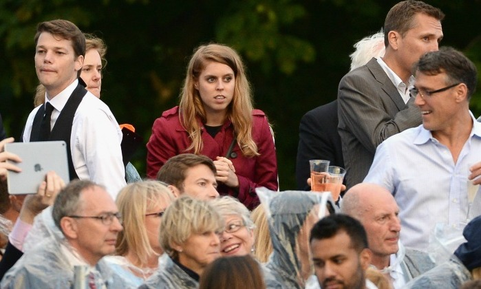 Princess Beatrice supported her cousin from the stands at Kensington Palace. 