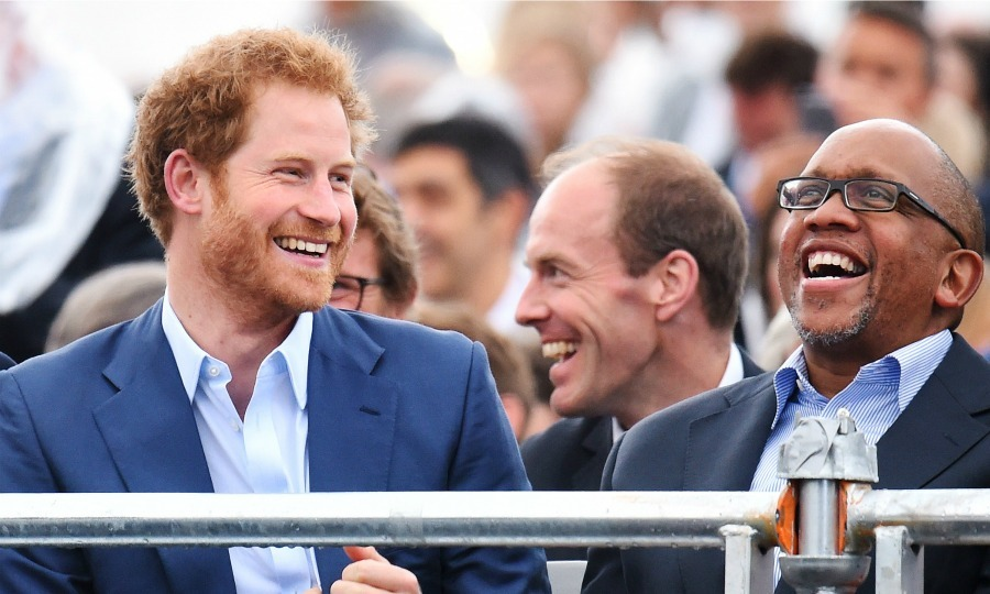 "Prince Harry and Prince Seeiso of Lesotho, who founded Sentebale together, enjoyed the concert side by side. Prince Seeiso honored his co-founder in his speech saying, ""May I pay tribute to my co conspirator Prince Harry. He has become a brother and a friend and in the true African tradition has been given a Basotho name of Mohale. It means a warrior. To you my dear friend and brother Harry I wish to pay a very special tribute. You came to Lesotho as a young man and today you stand tall and proud and are walking among the giants.""