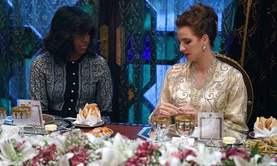 The first lady dinned with Princess Lalla Salma of Morocco in Marrakech.