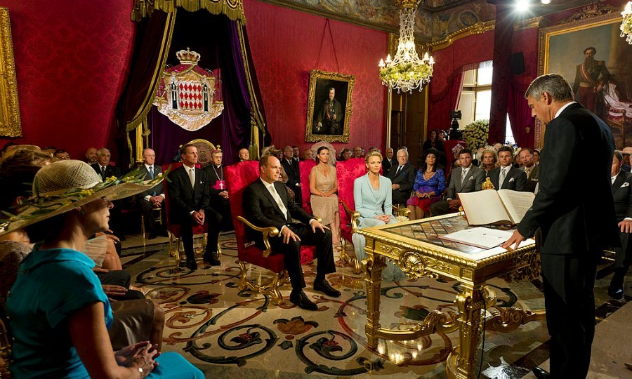 The couple was legally married in a civil ceremony on July 1, 2011 held inside the palace's Throne Room. The pair shared the moment with close family and friends – in addition to thousands of well-wishers via giant screens outside.