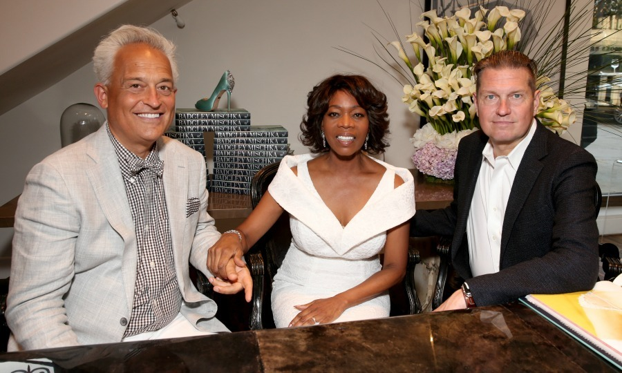 June 23:  Mark Badgley and James Mischka celebrated the launch of their book <i>Badgley Mischka: American Glamour</i> with Alfre Woodard at Badgley Mischka in Beverly Hills.
