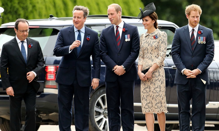 The royal trio attended a service marking the 100th anniversary of the beginning of the Battle of the Somme with French President Francois Hollande and Prime Minister David Cameron.
