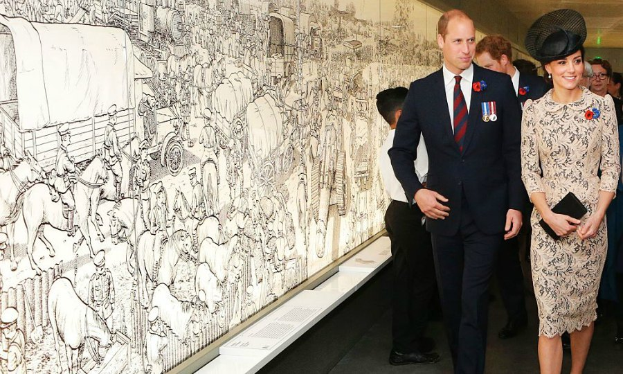 Will, Harry and Kate appeared excited to visit the World War I Thiepval monument in northern France.