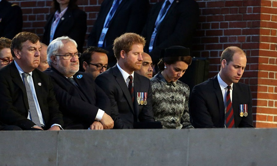 The royal trio looked visibly moved attending the military-led vigil that was commemorating the 100th anniversary of the largest and bloodiest battle of the First World War, which left more than one million dead/wounded.