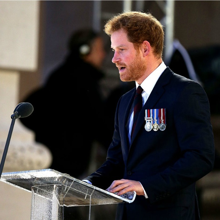 Prince Harry spoke at the vigil, reading the poem Before Action. The piece was written by Lieutenant WN Hodgson, before he was killed in action on the first day of the Battle of the Somme.