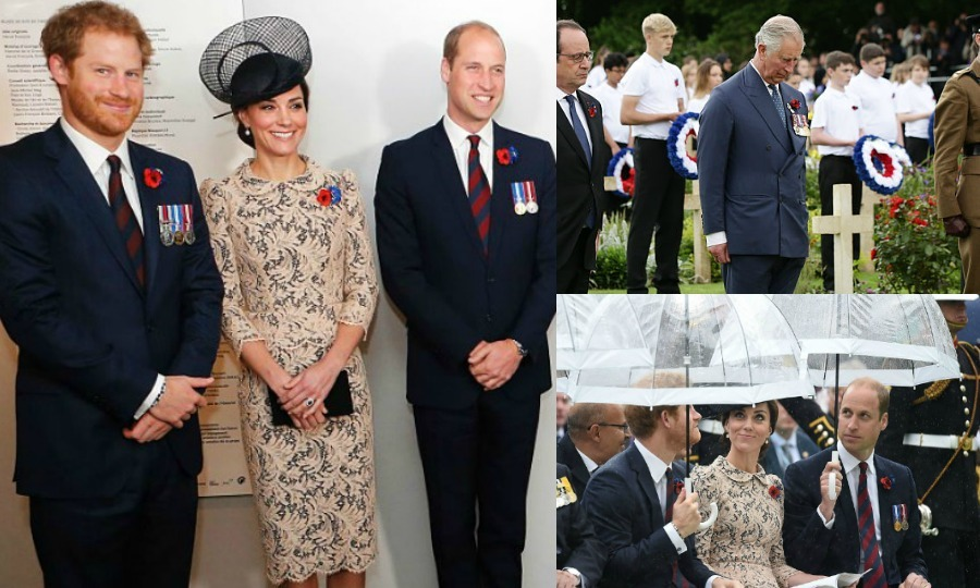 Members of the British royal family, including Kate Middleton, Princes William and Harry jumped the Channel to France on June 30 to observe the centenary anniversary of the Battle of Somme in Thiepval. The royals were on hand to attend vigils and services in honor of the WWI battle, which is regarded as the worst day in British military history. Click through for photos from the family's visit to France.