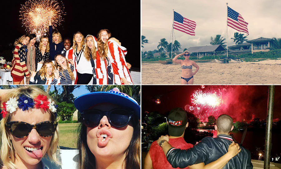 Nobody quite does the Fourth of July like the stars! And thanks to social media we were given a front row seat to their star-spangled celebrations. 