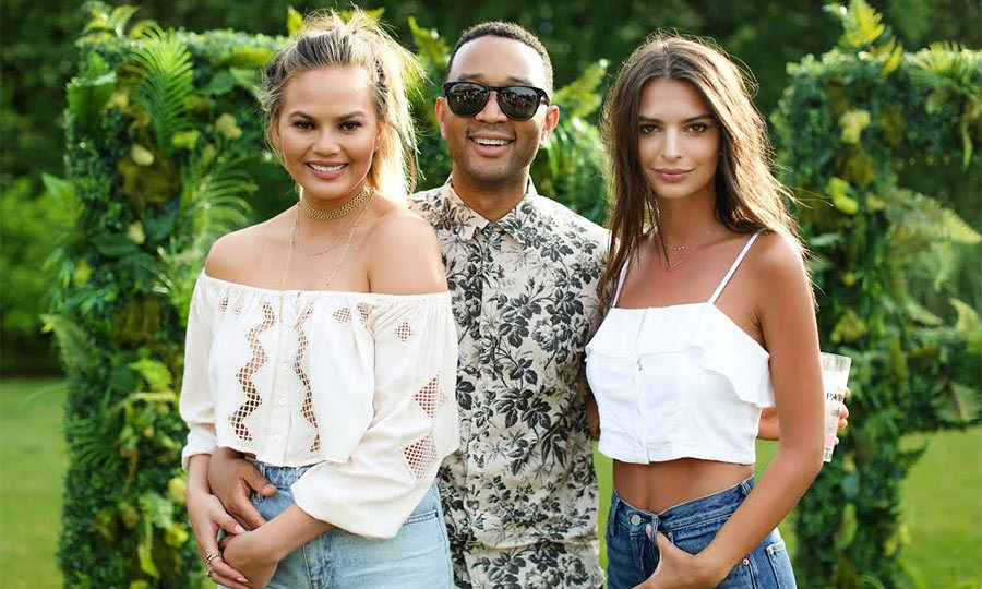 <b>Chrissy Teigen, John Legend and Emily Ratajkowski</b>