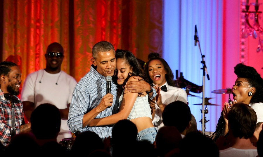 POTUS serenaded Malia on her 18th birthday during the Fourth of July White House party in Washington, D.C. 