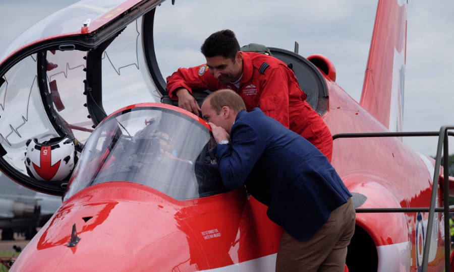 William and Kate surprised visitors at the UK air show - the