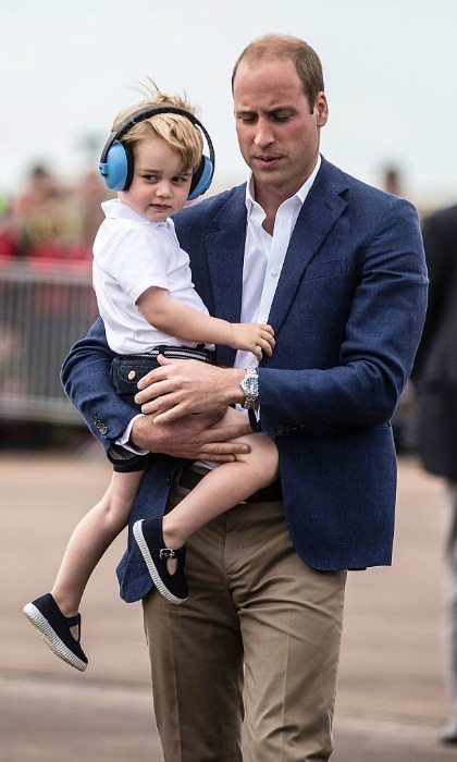 William, who previously worked as a RAF search and rescue pilot, was no doubt excited to show his son the aircrafts.