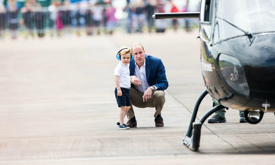 "It was one aircraft after another for little George. Back in 2015, the Duchess of Cambridge revealed that her son was showing <a href=""https://us.hellomagazine.com/royalty/2015112328385/prince-george-obsessed-toy-truck//""><strong>a deep interest in helicopters</strong></a>.