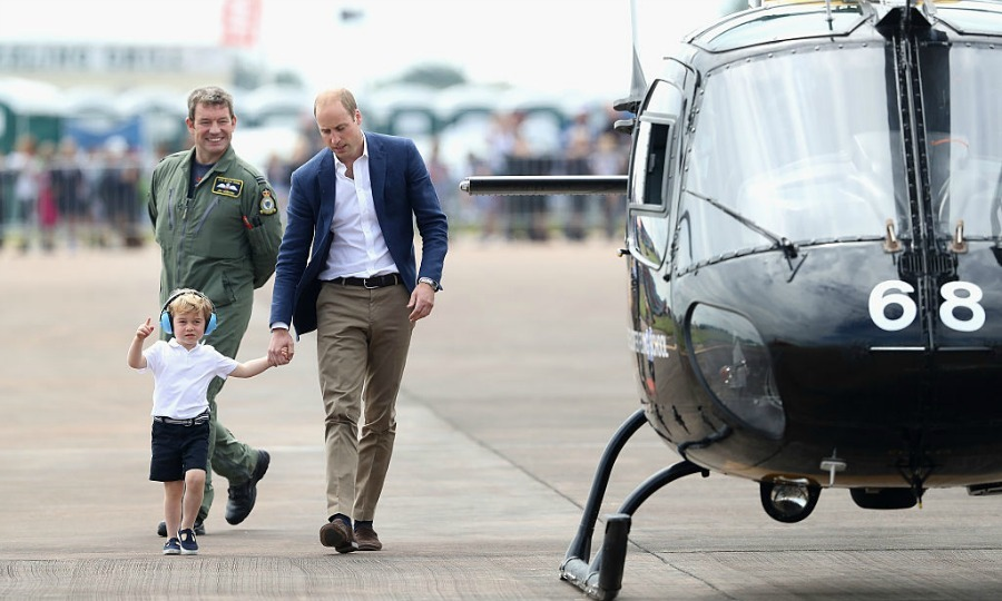 "Carol Vorderman told reporters, ""George is obviously keen on aircraft apart from the noise.""