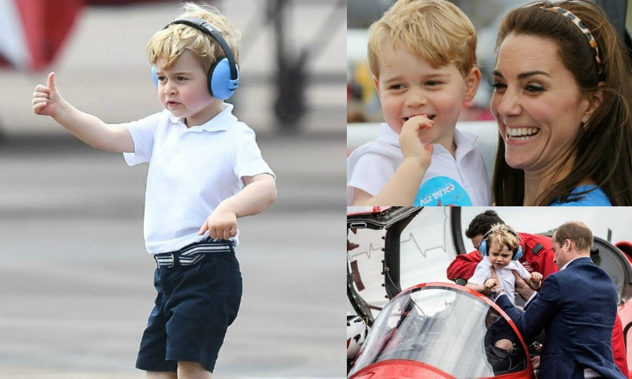 "<a href=""https://us.hellomagazine.com/tags/1/prince-george"" target=""_blank"" style=""font-weight: bold;"">Prince George</a> was ready for take-off at his first engagement in the UK! The future King attended the Royal International Air Tattoo at RAF Fairford with his parents <a href=""https://us.hellomagazine.com/tags/1/kate-middleton"" target=""_blank"" style=""font-weight: bold;"">Kate Middleton</a> and <a href=""https://us.hellomagazine.com/tags/1/prince-william"" target=""_blank"" style=""font-weight: bold;"">Prince William</a>. From jumping into the cockpit to climbing in helicopters, we're taking a look at the little royal's exciting day."