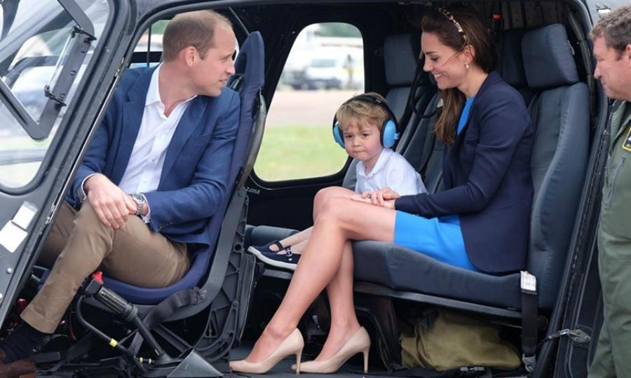 Prince George was ready for take-off carrying out his first engagement on UK soil with his parents at the Royal International Air Tattoo.