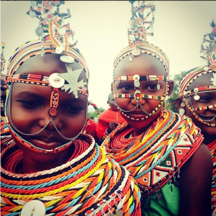 Madonna captured a photo of the women of the Samburu tribe in Kenya. 