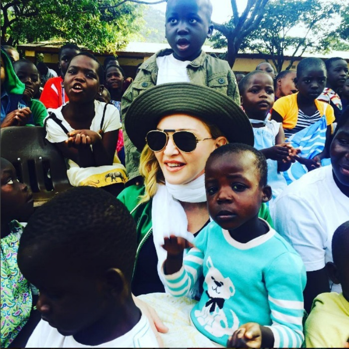 "The heart of Africa! Madonna received a ""warm welcome"" upon her arrival to an orphanage in Michingi, Malawi. 