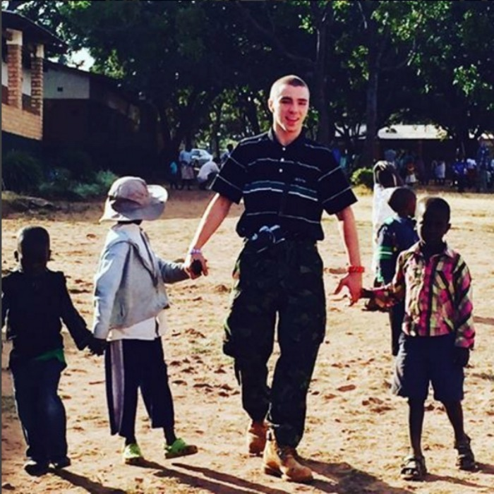 Rocco spent some time with children at the Home of Hope orphanage in Michinji.