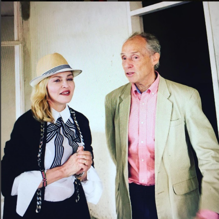 Madonna took the time to speak with one of her heroes, Dr. Eric Borgstein in the new pediatric hospital in Blantyre, which she hopes will be open in 2017. The hospital will specialize in surgery and intensive care. 