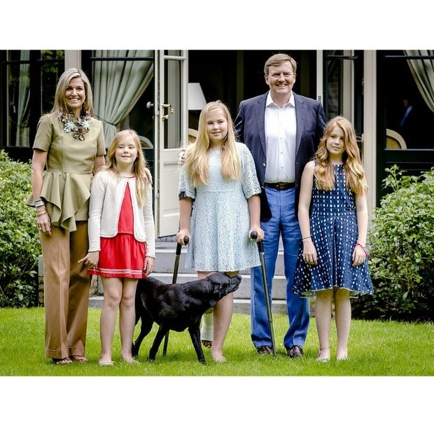 "King Willem-Alexander and <a href=""https://us.hellomagazine.com/tags/1/queen-maxima"" target=""_blank""><strong>Queen Máxima</strong></a> were joined by their daughters Princess Ariane, Crown Princess Catharina-Amalia and Princess Alexia for their yearly summer photo session at their residence Villa Eikenhorst in the Netherlands.