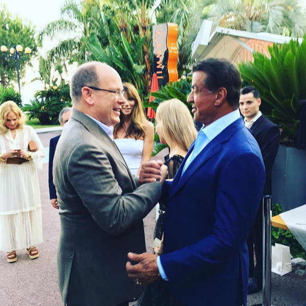 "It was a knockout celebration for Sylvester Stallone! <a href=""https://us.hellomagazine.com/tags/1/prince-albert/""><strong>Prince Albert of Monaco</strong></a> dropped by to wish the 70-year-old actor a happy birthday at his party held at Monte-Carlo's La Trattoria restaurant. 