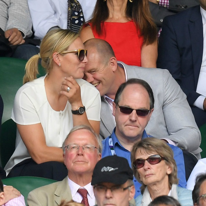 "<a href=""https://us.hellomagazine.com/tags/1/zara-phillips/""><strong>Zara Phillips</strong></a> and husband Mike Tindall got flirty while watching a match during the ninth day of the Wimbledon Tennis Championships. 