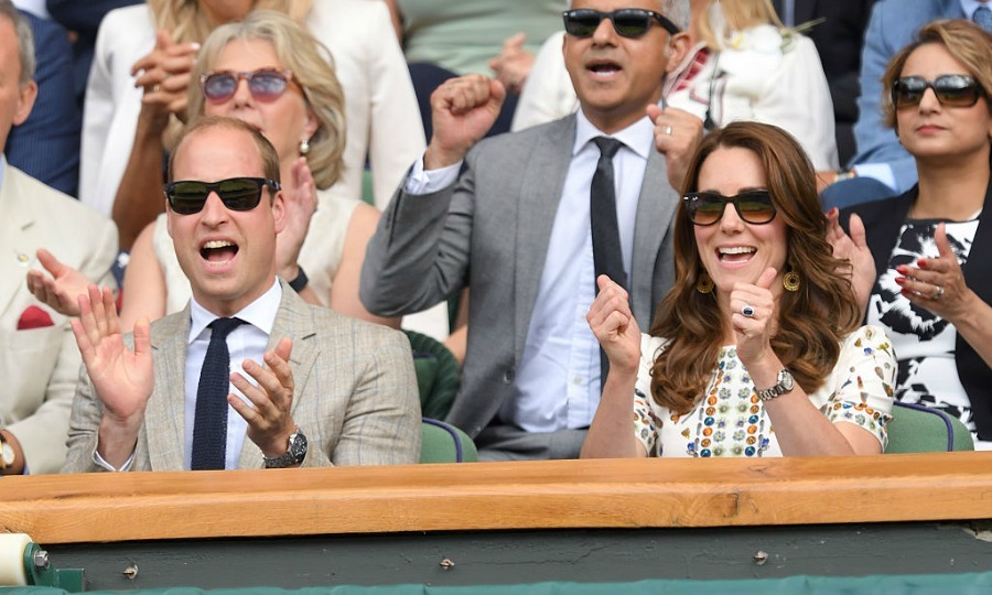 Prince William and Kate Middleton cheered on new dad Andy Murray at the Wimbledon Men's Final.