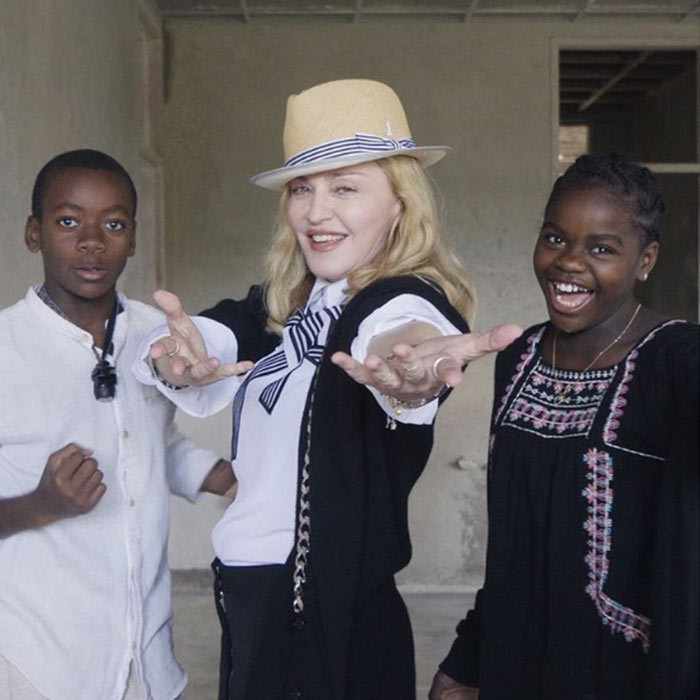 Mercy, David Banda and Madonna called upon her 7.5 million Instagram followers to help them come up with a new name for a pediatric surgery hospital being built in Malawi.