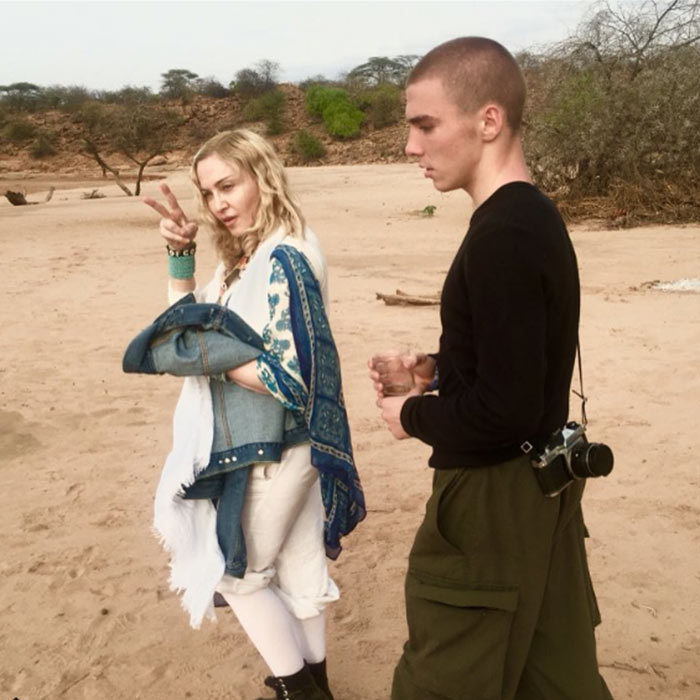 """Oh Africa you have filled our hearts with joy and appreciation!"" the <i>Like A Virgin</i> singer captioned this picture of herself and Rocco as the trip came to an end.