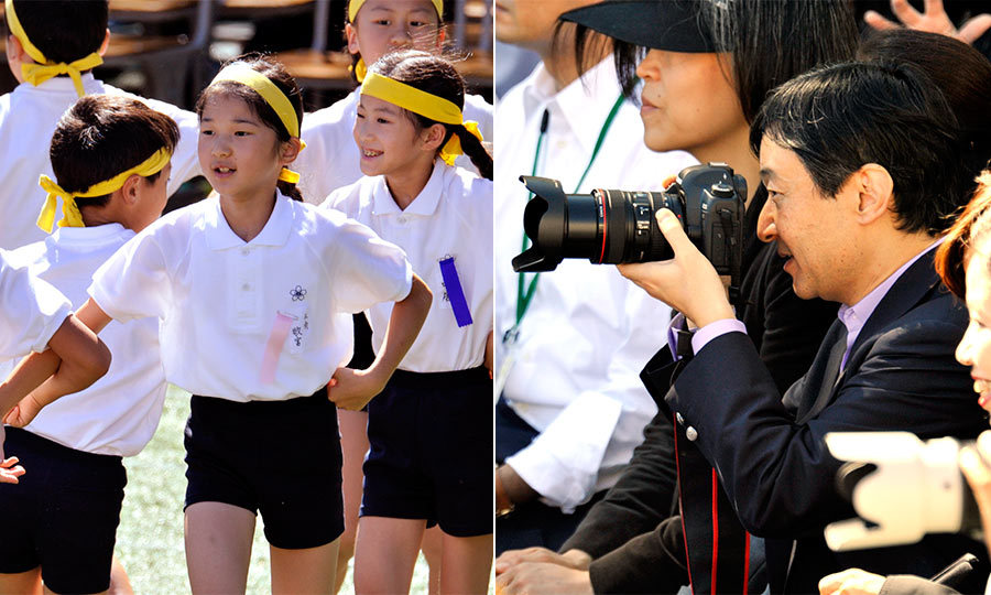 Like most fathers, the Prince made sure he captured lots of  precious moments in Aiko's childhood on camera, including her lively school performances.