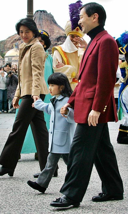 Like most little girls, Princess Aiko was very eager and excited to explore Tokyo's Disneyland when the family took a trip there in 2006.