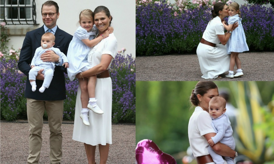 Even though it was Crown Princess Victoria's 39th birthday, it was Princess Estelle and Prince Oscar who had all eyes on them. While Victoria was showered with love by well-wishers at Solliden Palace, Estelle and Oscar were getting love of their own. Here is a look at the best moments from Victoria's birthday celebration. 