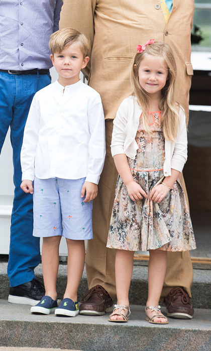 Prince Vincent and Princess Josephine were dressed in their summer best for their family's annual season photo call at Grasten Castle.