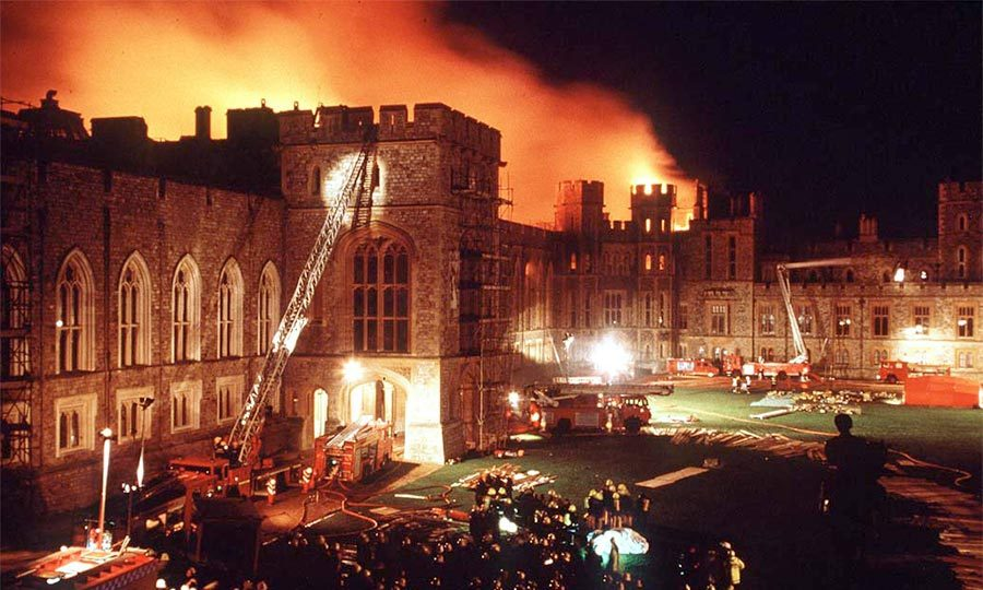 A 1992 fire destroyed more than 100 rooms, resulting in five years of painstaking restorations.