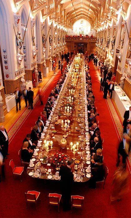 "It boasts a grand hall large enough to fit 160 guests and a ""dog door"" for the royal corgis.