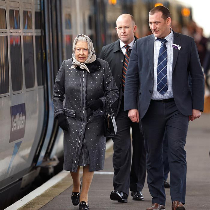 The Queen arrives here by train each December and stays until after Accession Day in February.