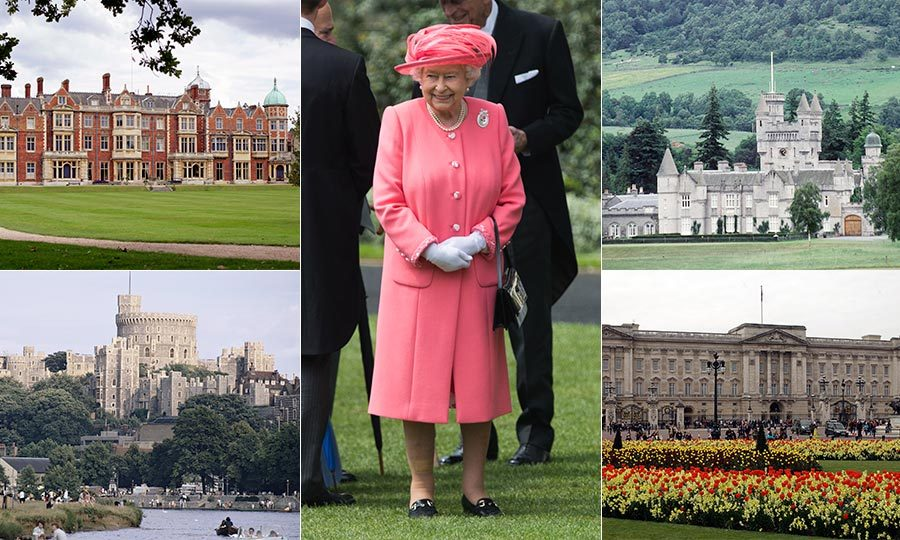 From Buckingham Palace to Balmoral Castle, we give you a look inside Queen Elizabeth's amazing royal residencies.